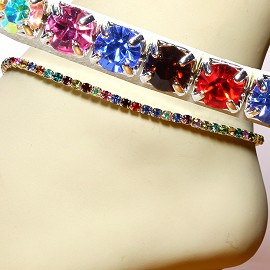 Anklet Stretch Crystal Rhinestone Multi Color AKT01