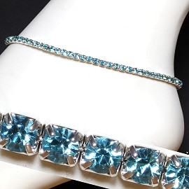 Anklet Stretch Crystal Rhinestone Turquoise AKT18
