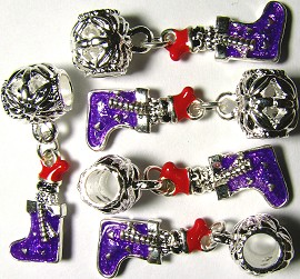 5pc Charm Stocking Purple BD082
