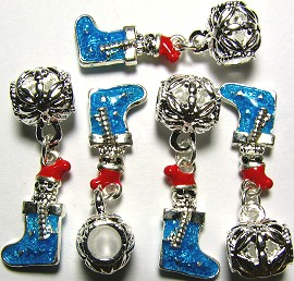 5pc Charm Stocking Sky Blue BD083