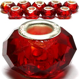 8pcs Crystal Beads Red Dark BD1014