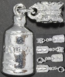 5pc Charm Alcohol Bottle Silver BD1113