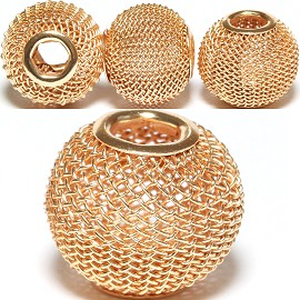 4pcs Mesh Beads Metal Link 16x13mm Brass BD1151