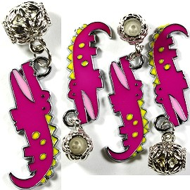 4pc Charms Gator Magenta BD1367