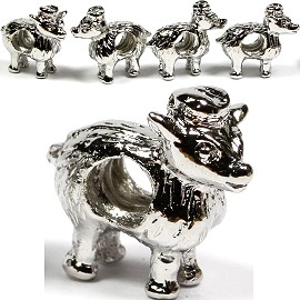 Screw 5pcs Charms Sheep w/ Hat Silver BD1388