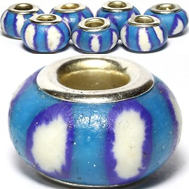 8pc Soft Clay Bead White Blue BD1566