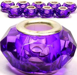 8pcs Crystal Beads Purple BD1624