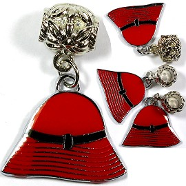 4pc Charms Hat Red Black BD1643