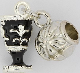 3pc Charm Royal Cup Silver Black BD1745