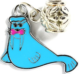 4pc Charm Walrus Blue BD1902