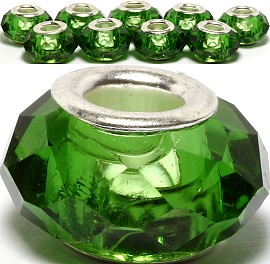 8pcs Crystal Beads Green BD1936