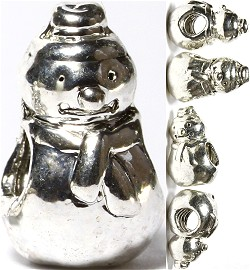 Screw 5pcs Charms Snowman Silver BD2033