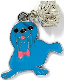 4pc Charms Walrus Blue BD2092