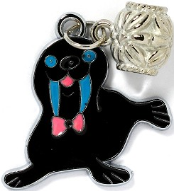 4pc Charms Walrus Black BD2093