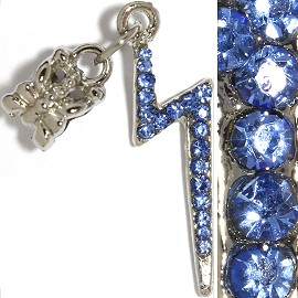 3pc Charm Lightning Rhinestone Blue BD2245