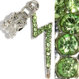 3pc Charm Lightning Rhinestone Green BD2246