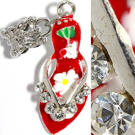 2pcs Charms Rhinestone Lady's Shoes Red BD2259