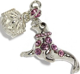2pc Charm Seal Rhinestone Purple BD2269