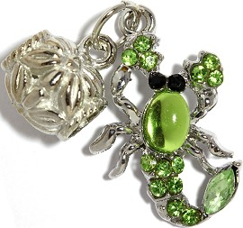 3pc Charm Scorpion Rhinestone Green BD2277