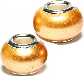 2pcs Beads Pearl Smooth Gold BD2351
