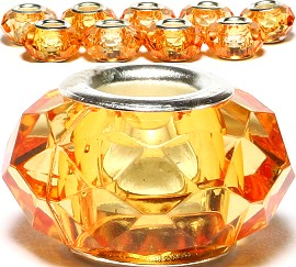 8pcs Crystal Beads Orange Light BD2388