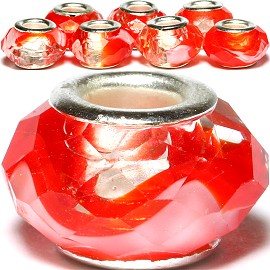 8pcs Crystal Beads Red Clear White BD2545