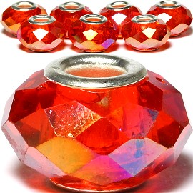 8pcs Crystal Beads Red Aura BD2546