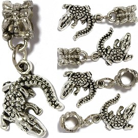 5pc Charms Gator Silver BD2615