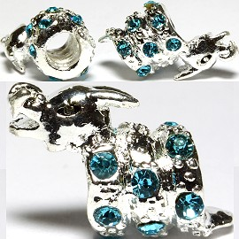 3pc Charm Dragon Rhinestone Turquoise Screw BD2689