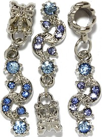 3pc Charm Moon Sun Rhinestone Blue BD2765