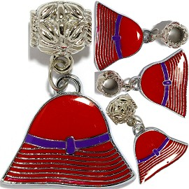 4pc Charms Hat Red Purple BD2859