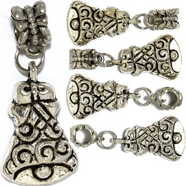 5pc Charm Bell Silver BD2916