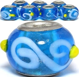 8pc Bead Blue White Yellow BD2966