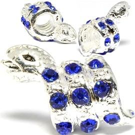 3pc Charm Snake Rhinestone Blue Screw BD2999