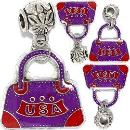 4pc Charm Purse USA Purple Red BD3011