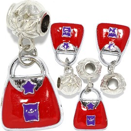4pcs Charm Purse Red Purple BD3013