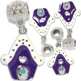 4pc Charm House White Purple BD3019