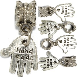 5pc Charm Hand Made Silver BD3046