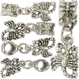 5pc Charm Scorpion Silver BD3048