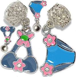 4pc Charm Lady's Swimwear Blue BD3057
