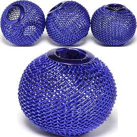 4pc Mesh Bead Metal Link 21x18mm Blue BD3085