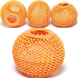 4pc Mesh Bead Metal Link 18x16mm Orange BD3090