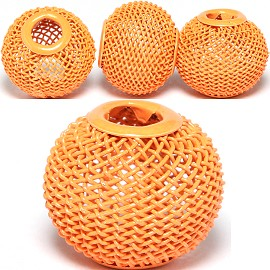 4pc Mesh Bead Metal Link 16x15mm Orange BD3096