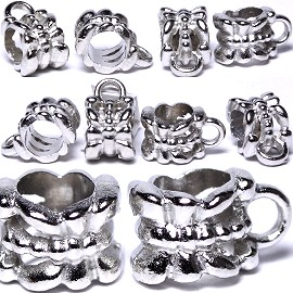 Beads 10pcs Charms Pack Silver BD425