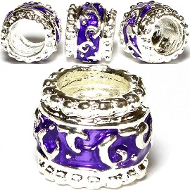 Charm 3pc Purple Silver BD453