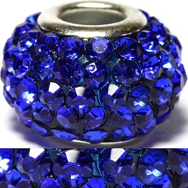 1pc Rhinestones Bead 15x10mm Blue BD465