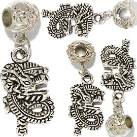 4pc Charm Dragon Silver BD471
