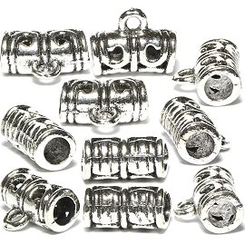 10pc Charms Connector For Chain or Small Pendant Silver BD489