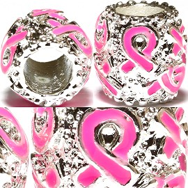 2pc Charms Pink Ribbon Breast Cancer Awareness BD492