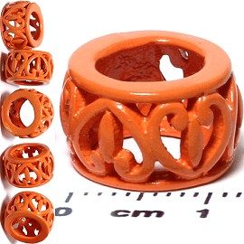 6pcs Charm Orange BD499